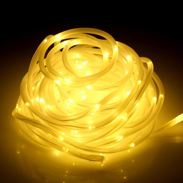 Waterproof 136 LED Dimmable String Rope Lights Garden Outdoor/Indoor Decorative Light : indoor rope lighting - www.canuckmediamonitor.org