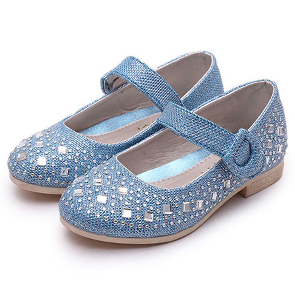 Aliexpress.com : Buy Rhinestone Girls Shoes 2017 spring Sparkling ...