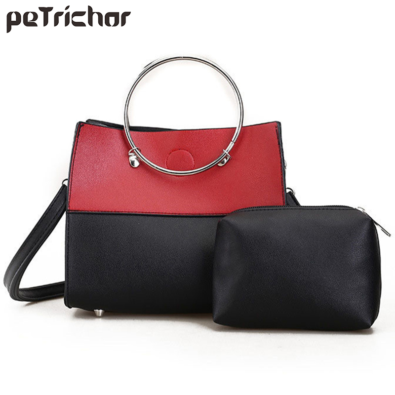 b78cd61fba3a1 Mode femmes sacs à main moraillon PU cuir Composite sac femme  multifonctionnel épaule et bandoulière sacs