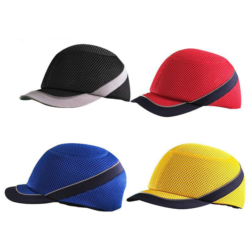 Bump Cap Safety Helmet Work Safety Hat Breathable Security Lightweight Helmets Baseball Style For Outside Door Workers GMZ-32 bump cap work safety helmet summer breathable security anti impact lightweight helmets fashion casual sunscreen protective hat