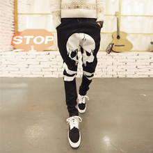 2015 Spring and Summer Harem Pants Hip Hop slim Men Pants Full Length Jeans Fashion Printed Men Trousers Plus Size 28-36