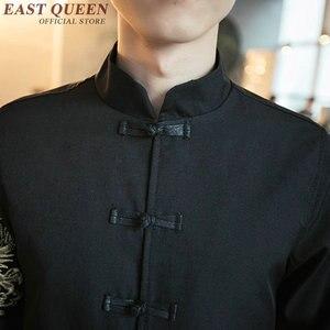 Image 5 - סינית מסורתית בגדים לגברים דרקון מפציץ מעיל ברוס אחיד מזרחי חליפת סתיו בגדי גברים 2019 AA1893