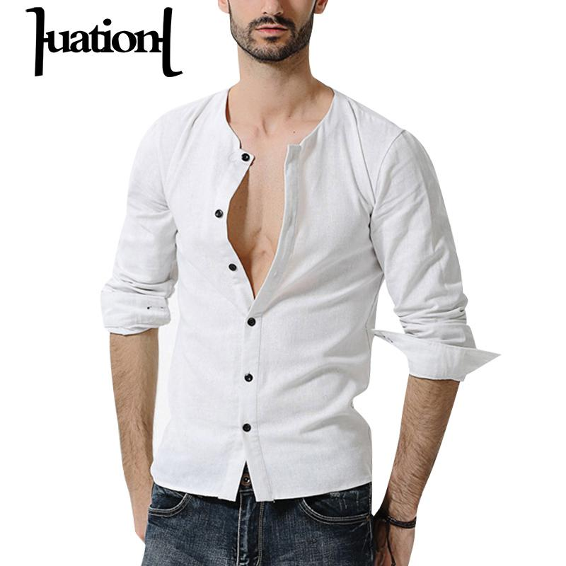 Online Get Cheap White Collarless Shirt Men -Aliexpress.com ...