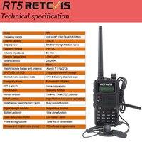 """מכשיר הקשר Retevis RT5 מכשיר הקשר 7W 128CH VHF UHF Dual Band VOX FM רדיו סורק חובב CB רדיו תחנת Communicator Hf מקמ""""ש (4)"""
