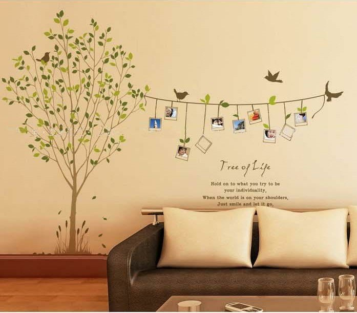 fashion removable pvc wall stickers for bedroom tree, fresh style