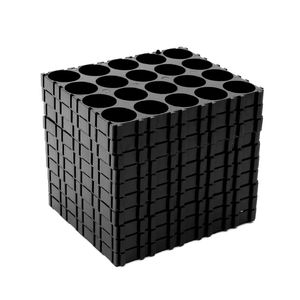 Image 2 - 10x 18650 Battery 4x5 Cell Spacer Radiating Shell Pack Plastic Heat Holder Black Drop Shipping Support