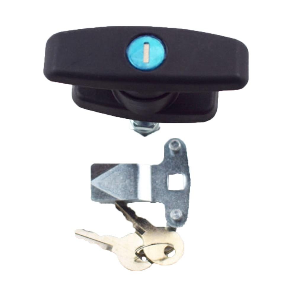 2* Trailer Shell Cap T-Handle Camper Cover Door Lock RV Truck w// Keys Latch Lid