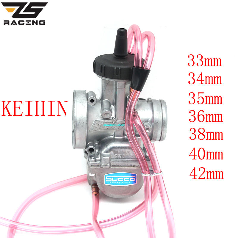 ZS Racing KEIHIN PWK 33 34 35 36 38 40 42mm PWK38 AIR STRIKER CARBURETOR Quad Vent Carb FOR Dirt KTM 250 250SX 250EXC TRX250R