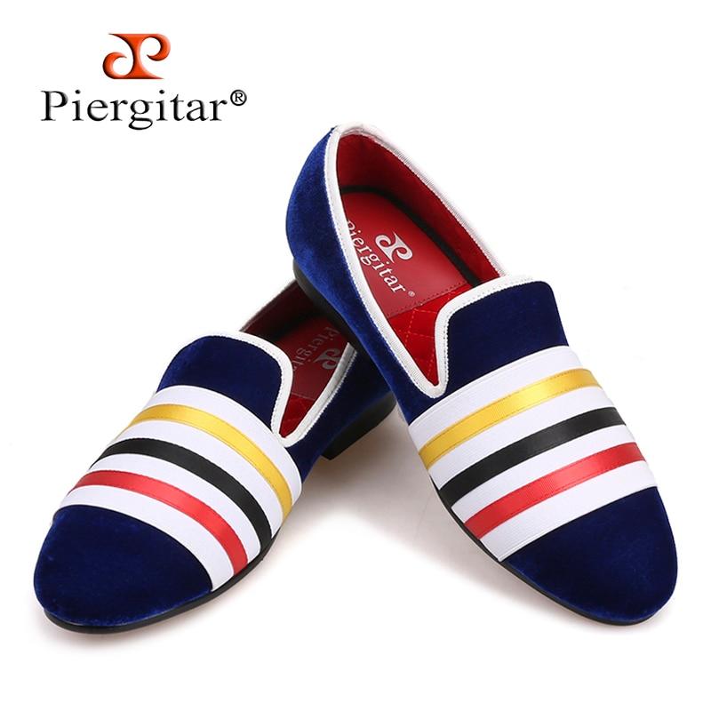 2018 Brand PIERGITAR Handmade Men Velvet Shoes Slip-on Wear Wedding Men  Dress Shoes Party Men Loafers Men s casual shoes 4f80cb03367b