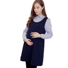 pregnant dress autumn long sleeve velvet dress maternity clothes winter maternity gown photography patchwork Pullovers premaman