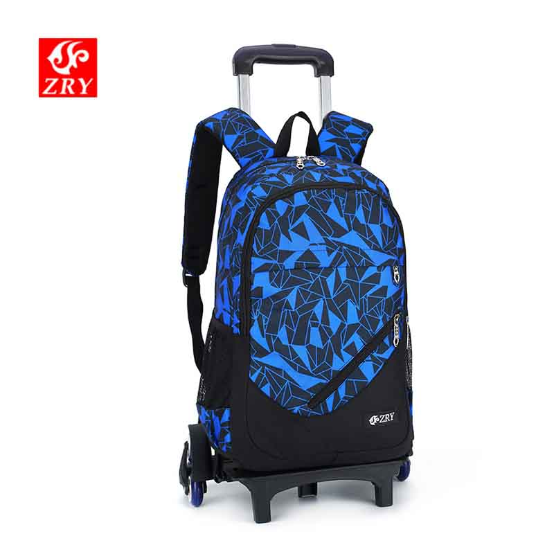 ZIRANYU Latest Removable Trolley Schoolbag Children School Bags With 2/6 Wheels Stairs Kids Girls Boys Luggage Book Bag Backpack latest removable children school bags with 3 wheels stairs kids boys girls trolley schoolbag luggage book bags wheeled backpack