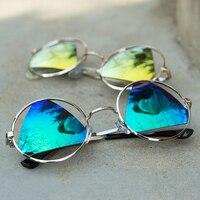 AGZ01 AGZ08 NEW 2018 Fashion Lens Vintage Round Sunglasses Women Brand Designer Sun Glasses Women