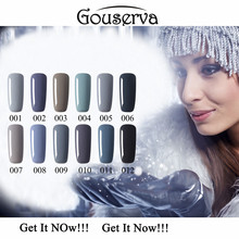 2016 New Arrival Grey Series Gel Nail Polish 12 Colors Easy Soak Off Lucky Gray Series