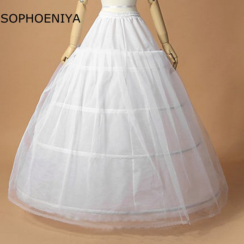 New Arrival vestido branco rockabilly dress petticoat 2020 Underskirt jupon 4 crinoline vestidos de 15 anos white petticoat