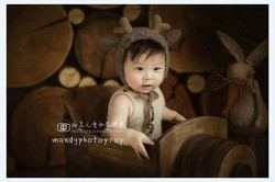 Neonatal antlers hat photo props baby elk hat photography props .jpg 250x250
