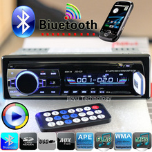 Stereo Nueva 12V del coche de Bluetooth FM Radio Reproductor de audio MP3 5V Cargador USB / SD / AUX  Car Electronics Subwoofer en el tablero de 1 DIN