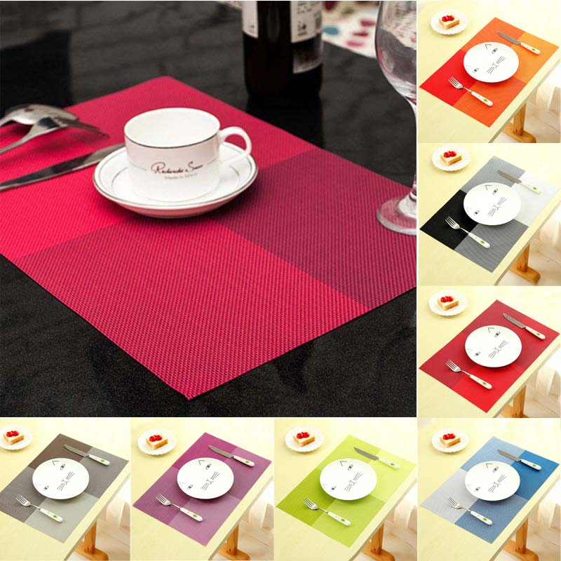 New Fashion Pvc Dining Table Placemat Europe Style Kitchen Tool
