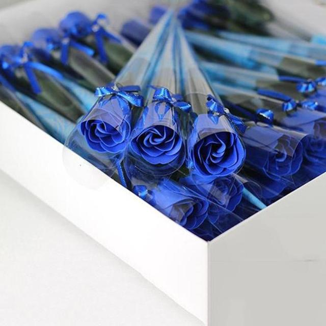 10pcslot artificial rose bouquet handmade simulation soap flower 10pcslot artificial rose bouquet handmade simulation soap flower redpink blue mightylinksfo