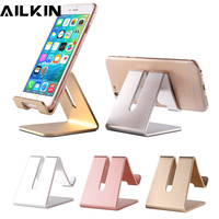 Universal Aluminum Metal Phone Stand Holder For iPhone 6 7 Plus Samsung S8 AILKIN Desktop Phone Holder Stand For Smart Watch