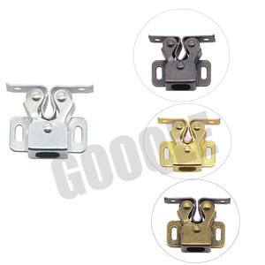 Image 1 - 1PCS Door Stop Closer Stoppers Damper Buffer Magnet Cabinet Catches With Screws For Wardrobe Hardware Furniture Fittings