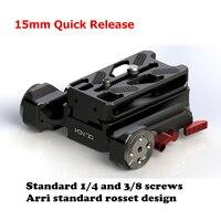 Новый 15 мм Quick Release крепление системы 1/4 3/8 винт для 15 мм DSLR Камера Rig A6 a7s2 a7r2 gh5 FIT Sony Canon Камера s