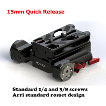 NEW 15mm Quick Release baseplate system 1/4 3/8 screw for 15mm DSLR Camera rig A6 A7S2 A7R2 GH5 fit sony canon cameras