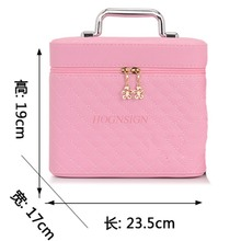 Cosmetic Bag Large Capacity Small Cute Square Storage Box Simple Travel Portable Women Cosmetics Case Makeup Pack Make Up Bags makeup pack cosmetics case professional storage large box partition portable 3 layer beauty tattoo kit cosmetic bag make up