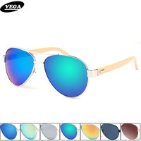Wholesale Hand Made Womens Mens Wooden Sunglasses Polarized Unique Aviation Sunglasses Styles Gray Blue Silver Etc