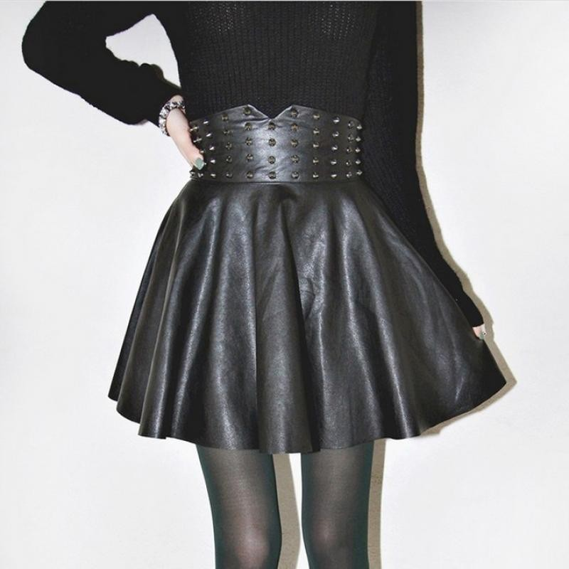Popular Leather Skater Skirt-Buy Cheap Leather Skater Skirt lots ...