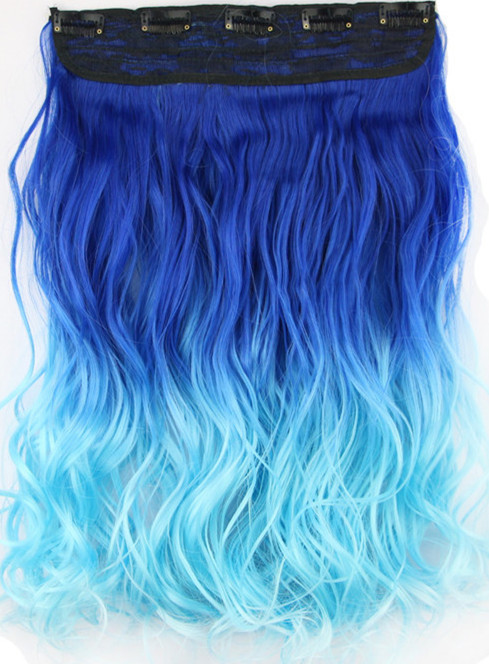 Online shop 1pcslot 24 60cm 130g rosa brazilian ombre real top online shop 1pcslot 24 60cm 130g rosa brazilian ombre real top clip in hair extensions darklight blue two tone ombre hair weave aliexpress mobile pmusecretfo Choice Image