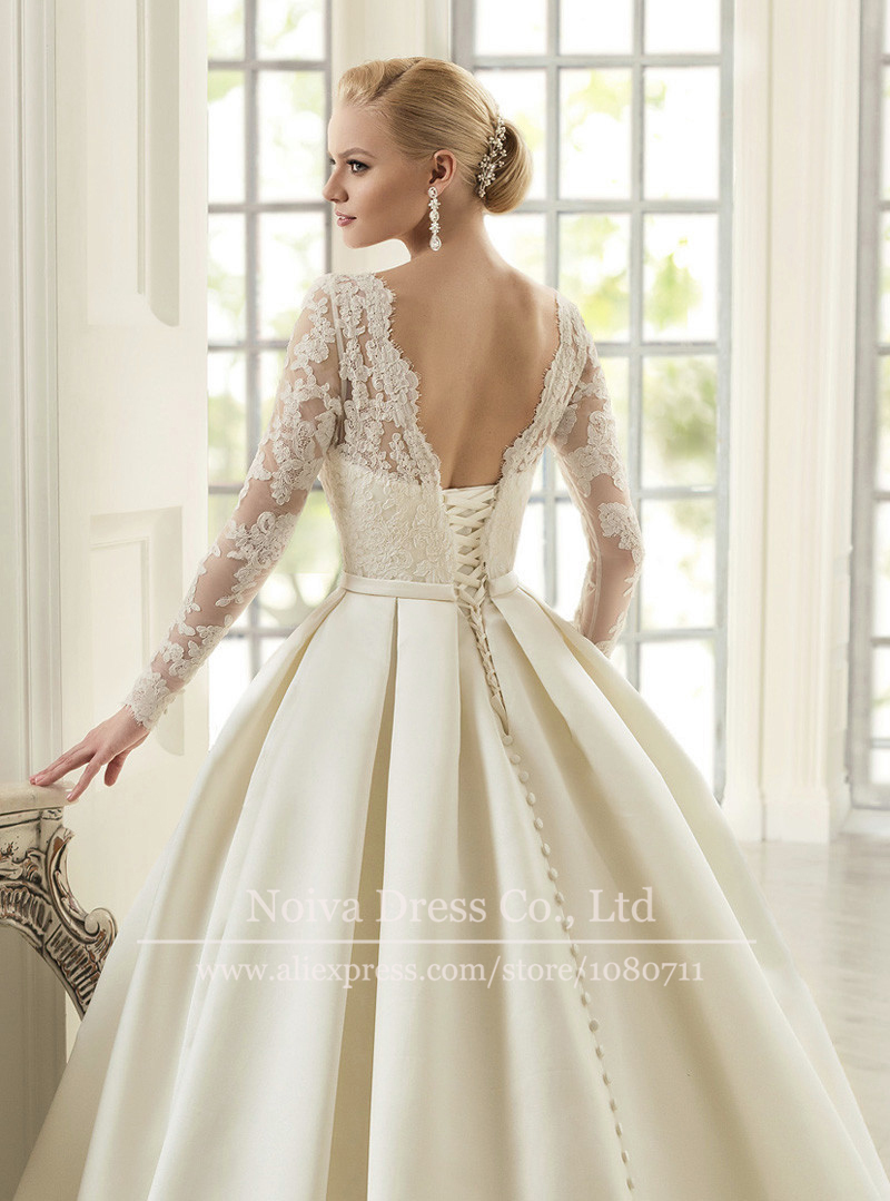 Bridal gown picture more detailed picture about elegant for Elegant long sleeve wedding dresses