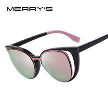 MERRY'S Fashion Cat Eye Sunglasses Women Brand Designer Retro Pierced Female Sun Glasses oculos de sol feminino UV400 S'731