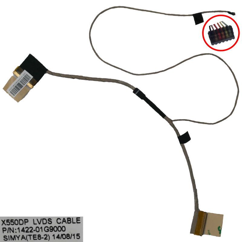 New Original LCD LED Video Flex Cable For ASUS X550 X550D X550DP F550DP K550DP PN:1422-01G9000 Repair Notebook LVDS CABLE original laptop display cable new for samsung rc710 ba39 01019a notebook vga cable screen lcd lvds cable flex