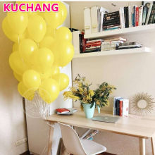 10pcs/lot 12inch Yellow Latex Balloons Air Helium Balls Inflatable Wedding Kids Birthday Party Decorations Float Toys Supplies(China)
