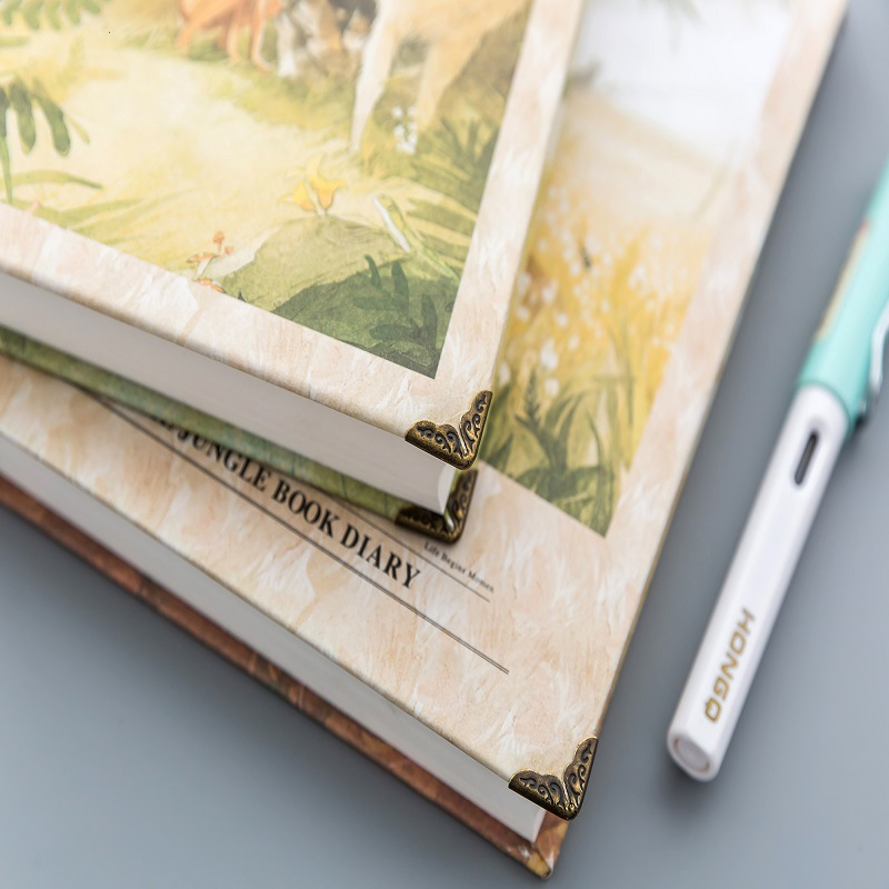 American Style Cute Jungle Illustration Notebook Colorful Pages Retro Wild Notebooks and Journals Bullet Journal Defter HJW075