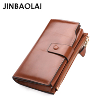 Classic Unisex Luxury Cow Leather phone Wallet with coin purse Card Holders Lady Long Cash Purses Noble elegant Clutch for Women