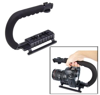 U/c Shaped Flash Bracket Holder Handle Handheld Action Stabilizer Grip For Camera Camcorder Video Handle Relieving Rheumatism And Cold