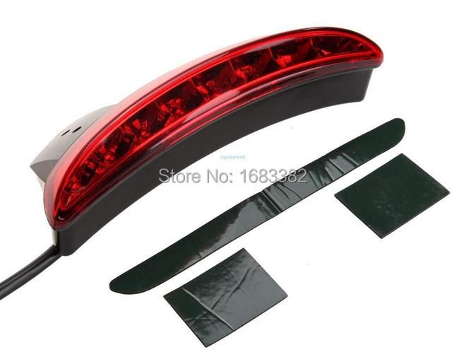 Prix pour Moto Fender Bord LED Feu arrière Adapte pour Harley Fer 883 XL883N XL1200N Haché Lentille Rouge