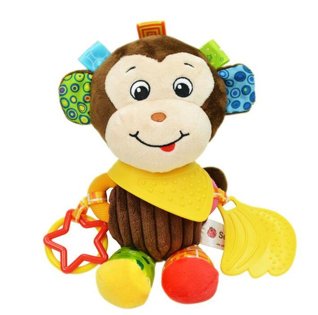 1pcs Sozzy Multifunctional Baby Toys Rattles Mobiles Soft Cotton Infant Pram Stroller Car Bed Rattles Hanging Animal Plush Toys 5