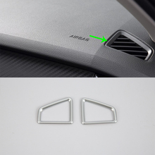 Auto accessories front up air vent cover 2pcs Car Styling accessories For 2017 SKODA KODIAQ auto accessories middle air vent cover 2pcs car styling accessories for 2017 skoda kodiaq