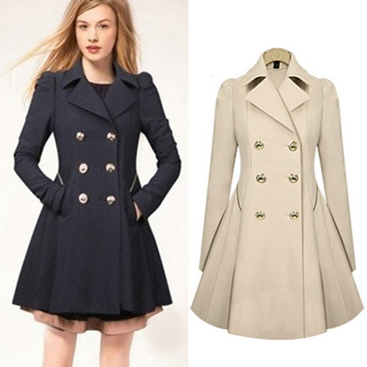 Long Trench Coat Women Photo Album - Reikian