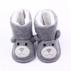 Детские зимние сапоги младенческой малыша новорожденных милый мультфильм медведь обувь для девочек мальчиков обувь малышей супер согреть