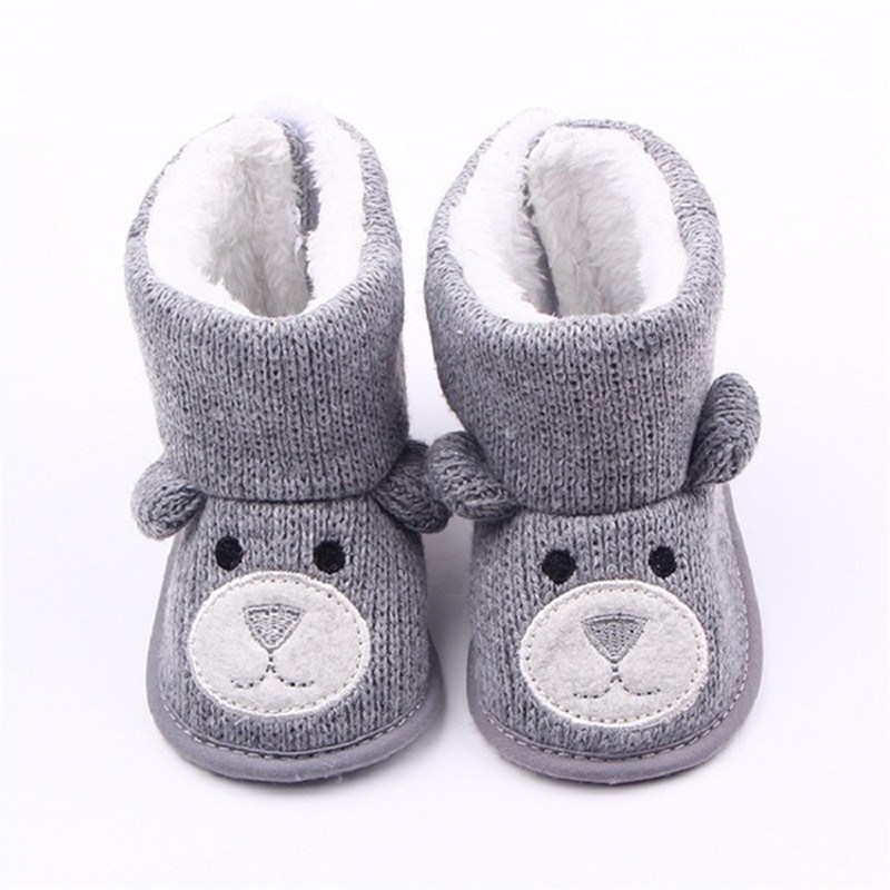 Baby Winter Boots Infant Toddler Newborn Cute Cartoon Bear Shoes Girls Boys First Walkers Super Keep Warm Snowfield Booties Boot|First Walkers| |  - title=