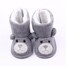 Baby Winter buty niemowlę Toddler noworodek cute Cartoon Bear buty dziewczyny chłopcy pierwszy Walkers Super Keep ciepłe Snowfield Booties Boot tanie tanio Dziecko First Walkers Zaczep pętli Płytkie MUPLY Pasuje do rozmiaru Weź swój normalny rozmiar Unisex Tkanina bawełniana