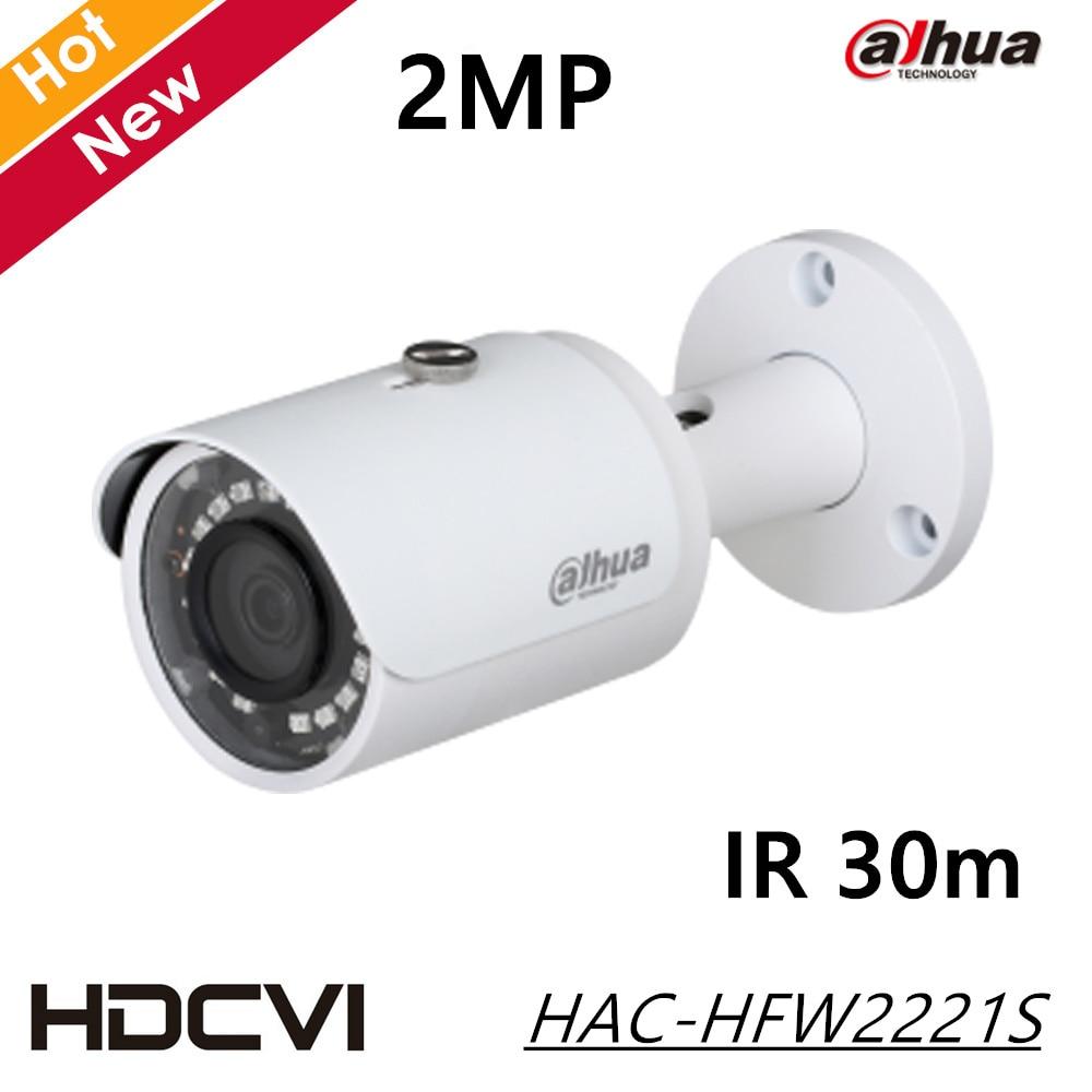 DAHUA Security Camera CCTV 2MP FULL HD WDR HDCVI IR Bullet Camera IP67 Without Logo HAC-HFW2221S free shipping dahua cctv camera 4k 8mp wdr ir mini bullet network camera ip67 with poe without logo ipc hfw4831e se