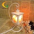 Творческий аутентичные Гималайский кристалла соли лампа настольная лампа спальня лампа ночник Континентальный Утюг Книжные Огни