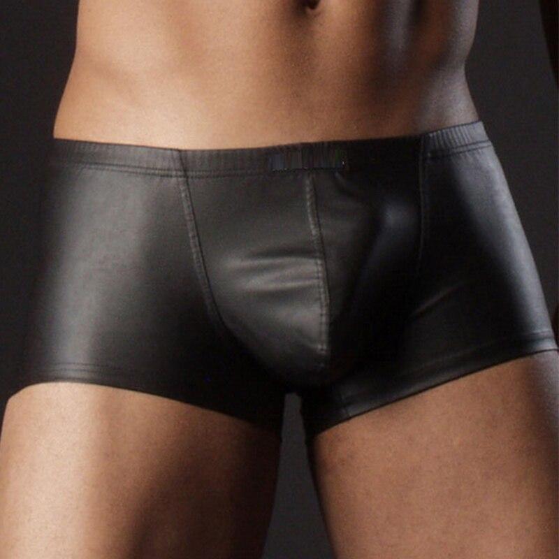 Sexy Mens Faux Leather Beach   Shorts     Board   Swimwear Swimming Swimsuit Boxer Swim Suits Beachwear Bathing Trunks