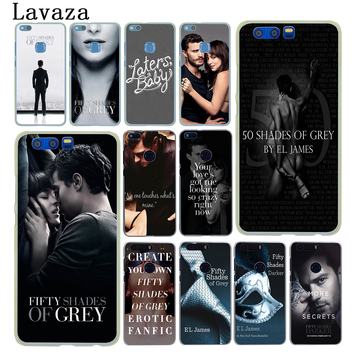 Lavaza Fifty Shades of Grey darker Hard Cover Case for Huawei Y5 Y3 Y6 II Y7 2017 2018 Nova 2 Plus 2S 2i Honor 10 8 9 Lite 7 7X