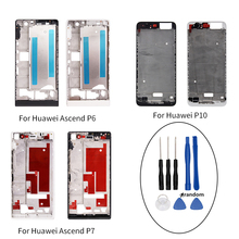 For Huawei Ascend P6 P7 P10 Housing Middle Frame Bezel Middle Plate Cover replacement parts for Huawei P6 P7 P10 with Tools