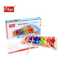 Деревянные игрушки Marimba восемь тон фортепиано музыкальный инструмент игрушки Детская музыка просвещение Монтессори образование учебные пособия
